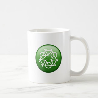 Reduce Reuse Recycle Green Bicycle Mugs
