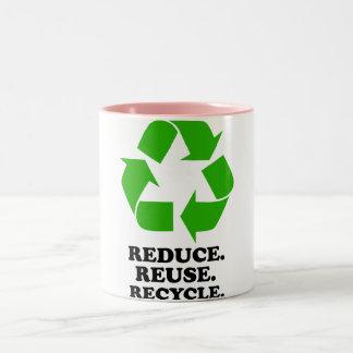 Reduce, Reuse, Recycle - Green Living Coffee Mugs