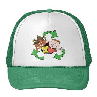 Reduce Reuse Recycle Kids Trucker Hats