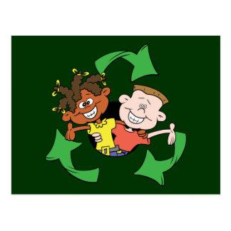 Reduce Reuse Recycle Kids Postcard