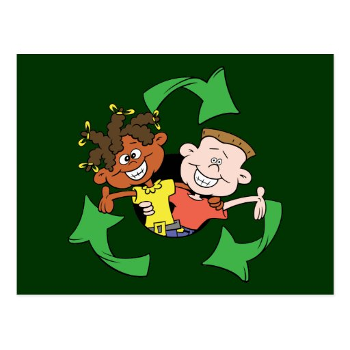 Reduce Reuse Recycle Kids Post Card