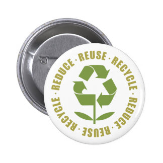 Reduce Reuse Recycle [logo] 6 Cm Round Badge
