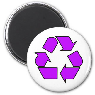 Reduce Reuse Recycle Logo Symbol Arrow 3R 6 Cm Round Magnet
