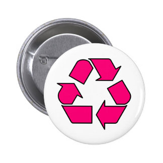Reduce Reuse Recycle Logo Symbol Arrow 3R Pinback Buttons