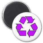 Reduce Reuse Recycle Logo Symbol Arrow 3R 6 Cm Round Magnet
