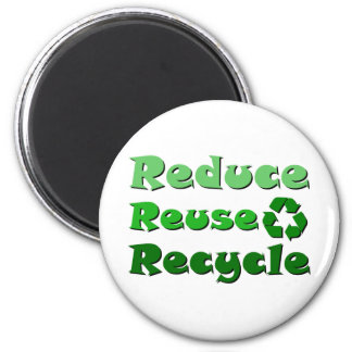 Reduce Reuse Recycle 6 Cm Round Magnet