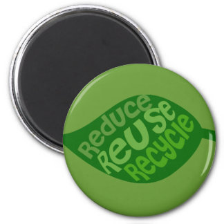 Reduce Reuse Recycle Fridge Magnets