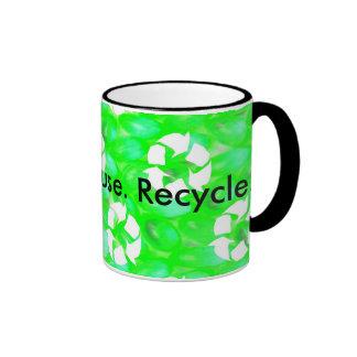 Reduce. Reuse. Recycle. Ringer Coffee Mug