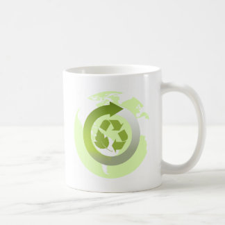 Reduce Reuse Recycle Planet Earth's Resources Basic White Mug