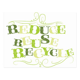 REDUCE REUSE RECYCLE png Post Card