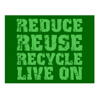Reduce reuse recycle postcards