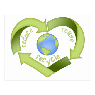 Reduce, Reuse, Recycle Postcard