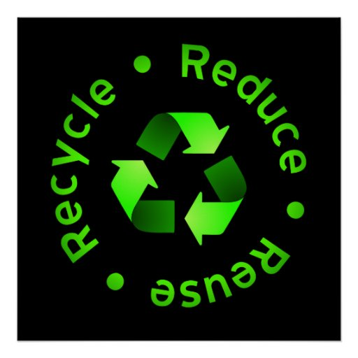 Reduce, Reuse, Recycle Poster