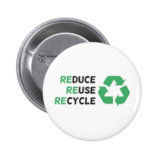 Reduce, Reuse, Recycle Products & Designs! 6 Cm Round Badge