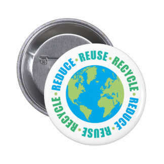 Reduce Reuse Recycle [r] Pinback Button