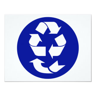 Reduce Reuse Recycle Recover Symbol (4 Rs) 11 Cm X 14 Cm Invitation Card
