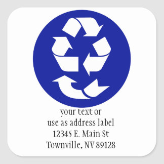 Reduce Reuse Recycle Recover Symbol (4 Rs) Square Sticker