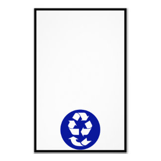 Reduce Reuse Recycle Recover Symbol (4 Rs) Customized Stationery