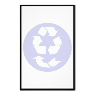 Reduce Reuse Recycle Recover Symbol (4 Rs) Stationery Design