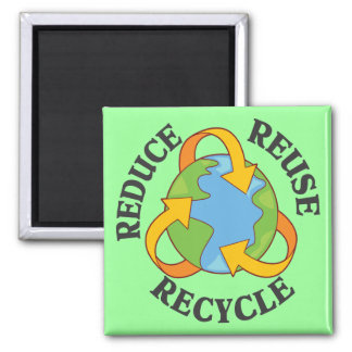 Reduce Reuse Recycle Refrigerator Magnet