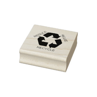 Reduce, Reuse, Recycle Rubber Stamp