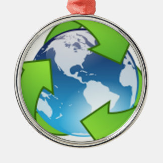 Reduce Reuse Recycle Save the Earth Day Christmas Ornament
