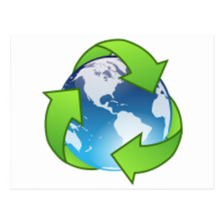 Reduce Reuse Recycle Save the Earth Day Postcards