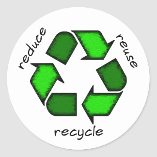 Reduce, Reuse, Recycle Sticker