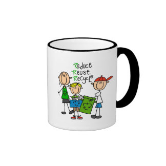 Reduce, Reuse, Recycle t-shirts and Gifts Mugs