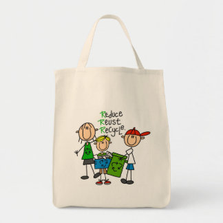 Reduce, Reuse, Recycle t-shirts and Gifts Tote Bag