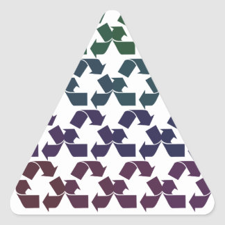 Reduce Reuse Recycle Triangle Sticker