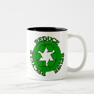 Reduce Reuse Recycle Two-Tone Mug