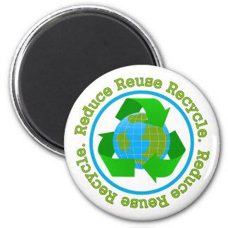 Reduce Reuse Recycle v2 Refrigerator Magnet
