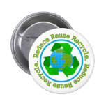 Reduce Reuse Recycle v2 Pinback Buttons