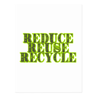 Reduce Reuse Recycle Vintage Recycling Design Post Card