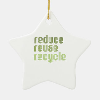 Reduce Reuse Recyle Christmas Ornament