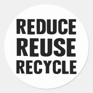 Reduce Reuse Round Sticker