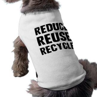 Reduce Reuse Sleeveless Dog Shirt