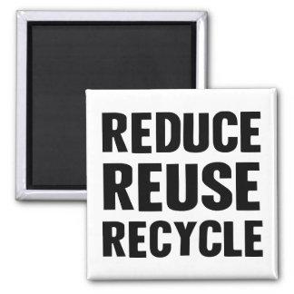 Reduce Reuse Square Magnet