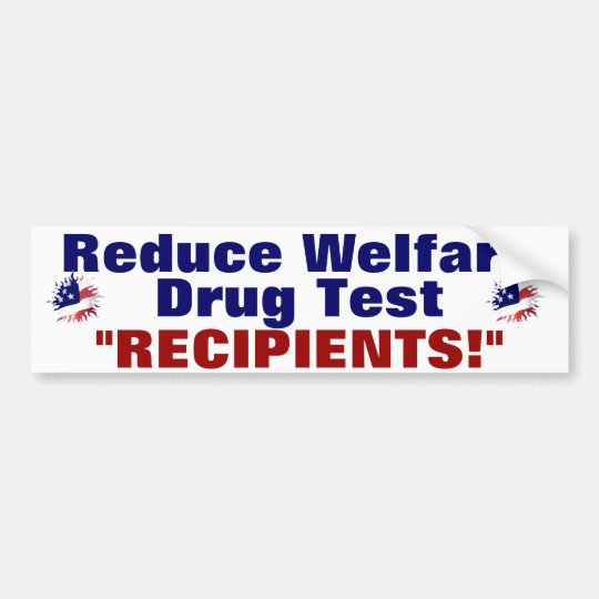 Reduce Welfare Bumper Sticker