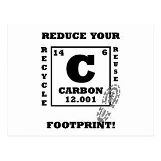 Reduce your carbon footprint! postcards