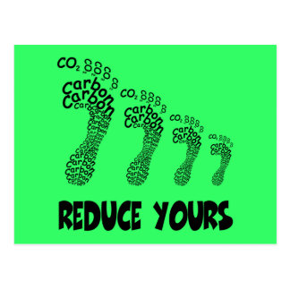 Reduce your carbon footprint postcard