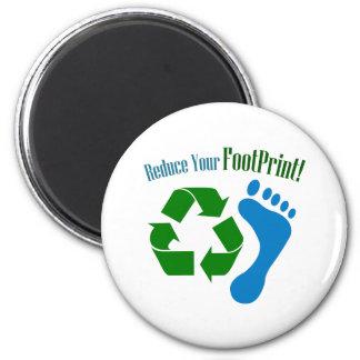 Reduce Your Footprint Fridge Magnets