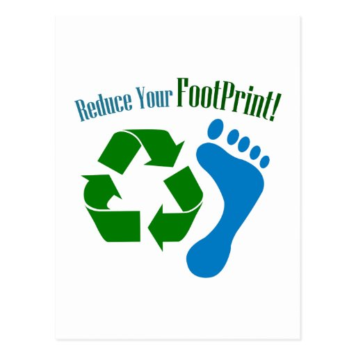 Reduce Your Footprint Post Card