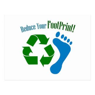 Reduce Your Footprint Postcard