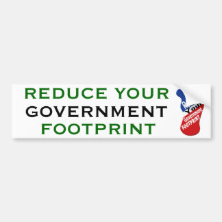 Reduce Your Government Footprint Bumper Stickers