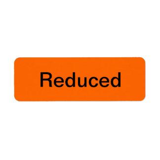 Reduced Merchandise Tags Return Address Label