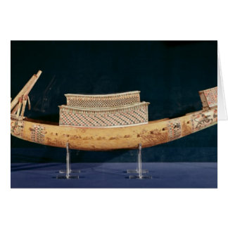 Reduced model of a boat from the Tomb Greeting Card