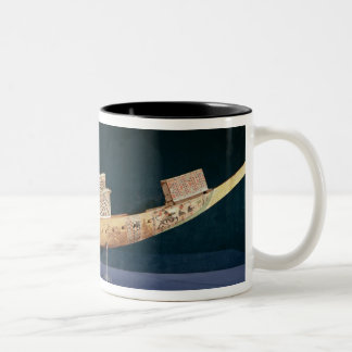 Reduced model of a boat from the Tomb Two-Tone Coffee Mug