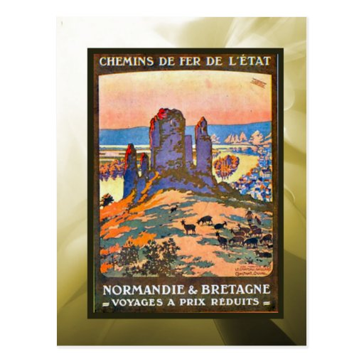 Reduced prices, Normandy, Brittany, Postcards